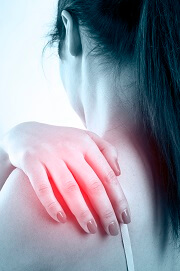 Shoulder blade pain may be caused by muscle problems, nerve problems, bursitis, poor posture, bone problems or a medical disorder
