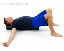 Roller Chest Stretch.  Approved use www.hep2go.com