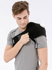 Applying ice can help to reduce shoulder bursitis pain and inflammation.  You can either use a simple ice pack or a specially designed shoulder strap if you want to be able to move around