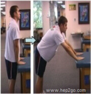 Frozen Shoulder Exercises: Table Reaches Approved use www.hep2go.com