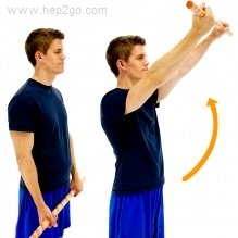 Active assisted exercises are a good way to regain shoulder mobility after surgery. Approved use www.hep2go.com