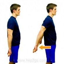 Active assisted shoulder extension using a stick