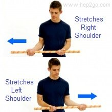Frozen Shoulder Exercises: Assisted external rotation.  Approved use by www.hep2go.com