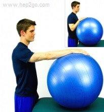 Balls Rolls: Improve shoulder flexion.  Approved use www.hep2go.com