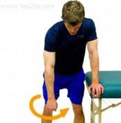 Frozen Shoulder Exercises: Pendulum Circles.  Approved use www.hep2go.com